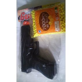 Juguete Pistola Tipo Glock Con 1000 Tiros 6mm
