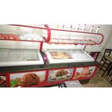 Expositor Sorveteria P 2 Freezer Iluminado Adesivado Sorvete