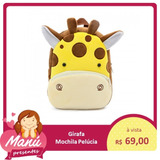 Mochila Pelúcia Girafa Infantil