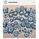 Escarapelas Tejidas Al Crochet - Varios Modelos