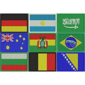 Bandeira Bordado Patch Brasil Estados Países 5 X 7 Cm.