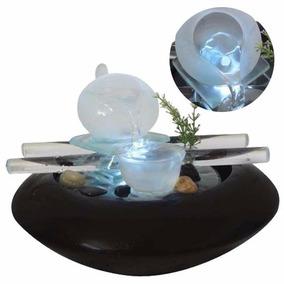 Fonte De Agua Cascata Enfeite Decora Jardim Ceramica Vidro
