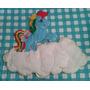 Adorno De Pared Artesanal En Fieltro Para Niños, Little Pony