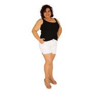 Shorts Sarja Com Elastano Plus Size Do 46 Ao 60 Branco