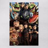 Poster 30x45cm Filmes Animacao Como Treinar O Seu Dragao 2