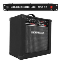 Caixa Cubo Amplificador Teclado 30w + Filtro Profissional 12