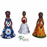 Trio De Bonecas De Cerâmica Dondocas Com Noiva Lindas - A