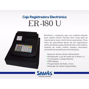 Caja Registradora Eléctrica Sam4s Er-180u