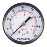 Manómetro Para Compresor Carátula 2, Conex Post 1/4, 160 Psi