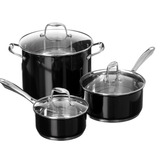 Set De Ollas 10 Piezas Kitchenaid Acero Inoxidable Negro