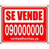 Cartel Se Vende Alquila Inmobiliarias 50 X 80