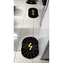 Jogo De Tapetes P/cozinha Em Crochê Feito À Mão