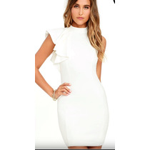 Vestido Blanco Nuevo Con Etiquetas Boda Civil Envio Gratis