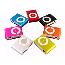 Kit 3 Mini Mp3 Player Com Fone + Cabo Usb + Entrada Micro Sd
