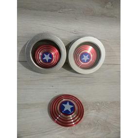 Fidget Spinner Metálico Capitán América Juguete Antiestrés