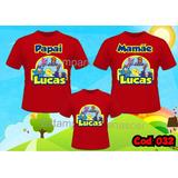 Lembrança De Aniversario Camiseta- Kit C3 Galinha Pintadinha