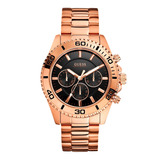 Reloj Guess W0170g3 Dorado Negro Original Hombre