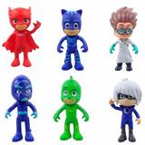 Set 6 Figuras Pj Masks Heroes En Pijama Mascara Coleccion