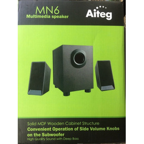 Cornetas Multimedia 2.1 Aiteg Mn6 Sonido Pc Subwoofer 2.1