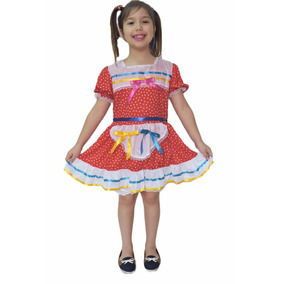 Vestido Festa Junina Roupa Caipira Infantil Junino Quadrilha