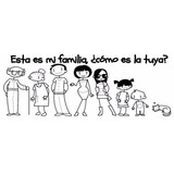 Familia Colombiana Feliz Pegatinas Por Combo 5 Integrantes