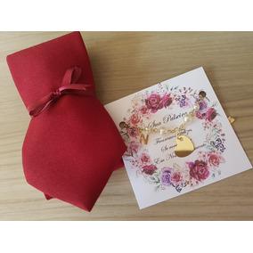 10 Kits Pulseira + Gravata Lembrança P Padrinhos Casamento