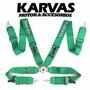 Cinturon Takata 4 Puntas Verde 3 Pulgadas / Karvas