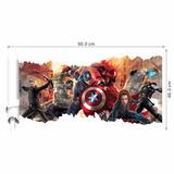 Adesivo De Parede Vingadores Marvel - Envio Imediato!!!