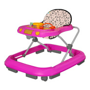 Andador Infantil Musical Para Bebê Rosa - Tutti Baby