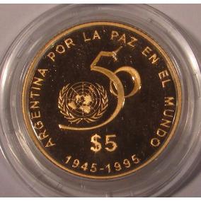 50 Aniversario Onu Oro Con Certificado. Dificil De Conseguir