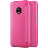 Moto G5 Plus - Nillkin Funda Sparkle Poli Piel Color Rosa