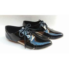 Oxford Aberto Verniz Preto - Perfeito Shoes