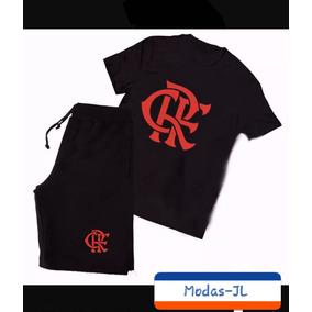 1b967fe827 Camiseta Camisa + Bermuda Moletom Flamengo Time Mengão