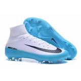 Nike Mercurial Superfly V Fg (celeste/blanco)