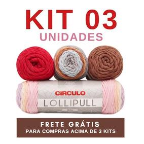 Kit 03 Novelos Fio Lã Lollipull 100g Circulo - Promoção! 741027a2ee1