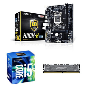 Kit - I5 7400 + 8gb Crucial + Gigabyte H110m-h