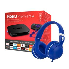 Kit Roku Premiere+ & Audifonos Skullcandy Hesh Azul/blanco