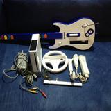 Nintendo Wii Chipeado + Guitarra+volante
