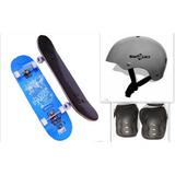 Skate Patineta + Casco Smart Reforzado + Protecciones