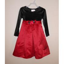 Youngland Elegante Vestido Terciopelo Y Satin Niña 4 Años