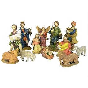 Nativity Figurine Set - Paquete De 12 Figuras De Polystone