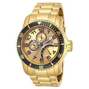 15343 Pro Diver Oro 18k-ion Plateado Reloj De Acero Inoxidab