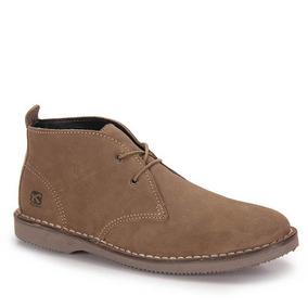 Sapato Bota Kildare Bk1400 Couro Tipo Camurça - Casa Aliel