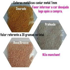 Caviar Metal 1mm 20 Gramas Micro Pérolas Pedrarias Unhas