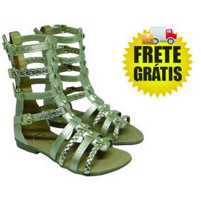 Sandália Frete Gratis Gladiadora Infantil Feminina 141-01-76