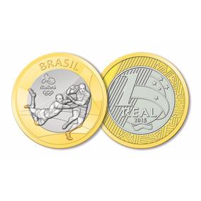 Moeda Comemorativa 1 Real Olímpíadas Rio 2016 - Rugby/rúgbi