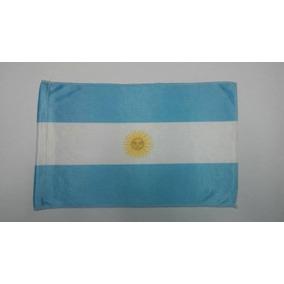Bandera Argentina Banderita De Tela Con Ojal Para Palito