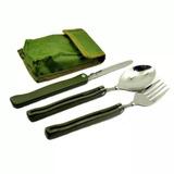 Conjunto Talheres Tipo Canivete Tatico Camping Pesca E Caça