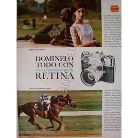 Publicidad Antigua Camara Kodak Retina Reflex 3 A?o 1963 Qqx