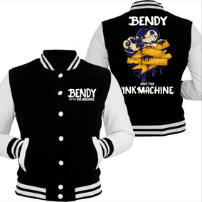 Campera Bendy And The Ink Machine !calidad! Negra-gris Melan